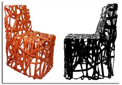 Sillas realizadas con residuos pl sticos reciclado y for Sillas de plastico de diseno