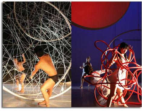 diseño del escenario y el vestuario para el Ballet Nacional de Marsella