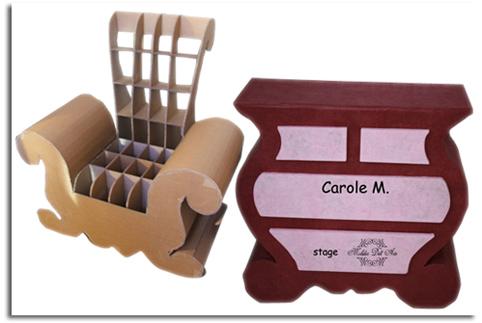 Muebles de cart n original ecodise o franc s objectbis dise o ecol gico creativo - Muebles de carton ...
