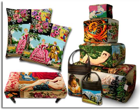 Rescatar y reciclar tapicer as de pocas pasadas vintage - Objetos de decoracion ...