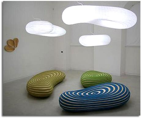 """nuevo diseño de David Trubridge presentado en el Salón del Mueble """"Milán 2008″"""