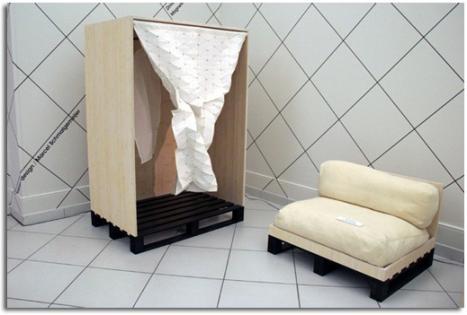 Muebles hechos con pales c mo reutilizar y reciclar for Reciclar palets para muebles