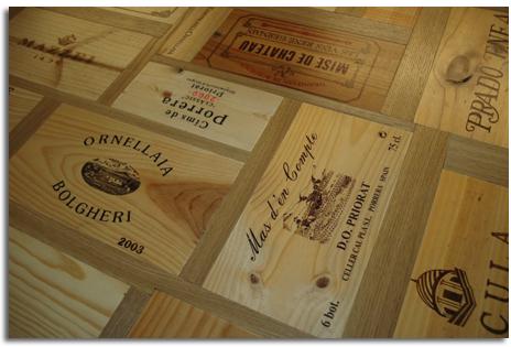 reutilizar cajas de vinos para realizar mesas