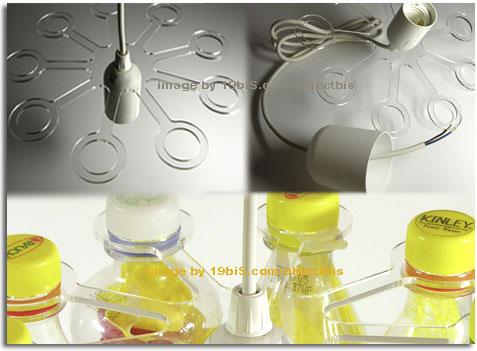 Pet light sistema para hacer l mparas colgantes de - Que se puede hacer con botellas de plastico ...