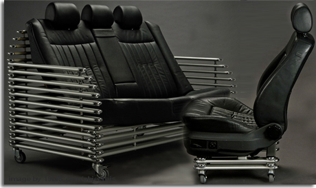 Reutilizar asientos y piezas de coches usados para for Asientos para oficina