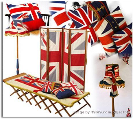 Reciclar el tejido de banderas y objetos militares for Objetos de decoracion para el hogar