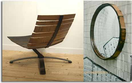 reutilizar y reciclar la madera de barricas de licores para fabricar mobiliarios