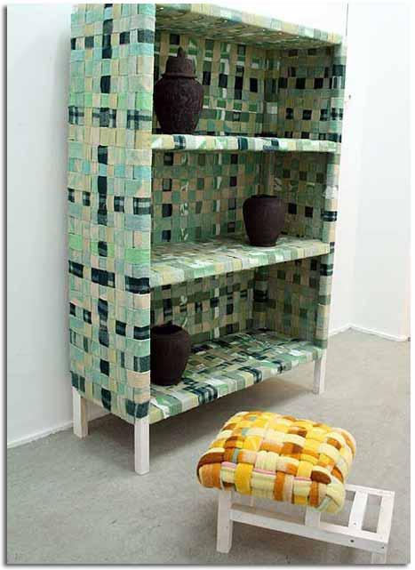 Muebles y art culos decorativos creados mediante el uso de for Muebles reciclados de diseno