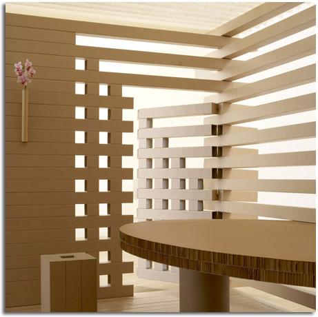Interior de papel y cart n objectbis dise o ecol gico - Arquitectura o diseno de interiores ...