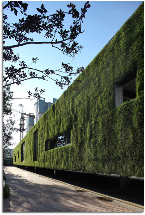 Skyline arquitectura jard n pret porter instalaci n verde for Jardin verde