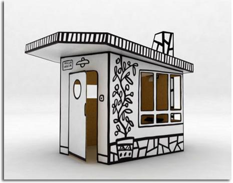 """casitas de carton. """"Villa Julia"""" casita de cartón"""