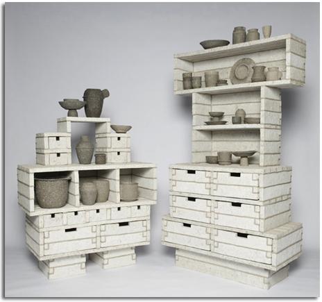 Muebles de baño reciclados