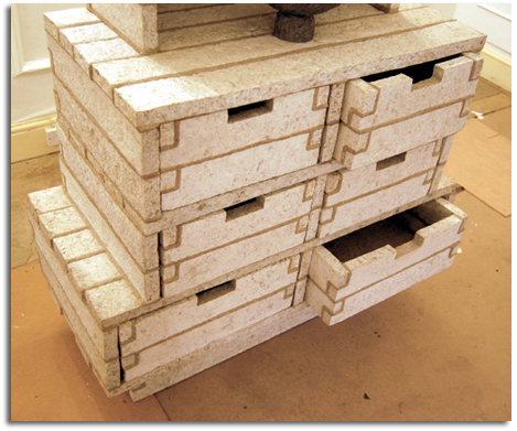 Como hacer muebles con pasta de papel reciclado objectbis dise o ecol gico creativo - Como reciclar muebles ...