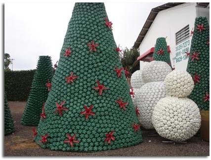 Rboles y complementos navide os ecol gicos 09 botellas - Tutorial arbol de navidad ...
