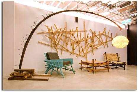 Mobiliarios realizados con materiales y t cnicas no for La madera es reciclable