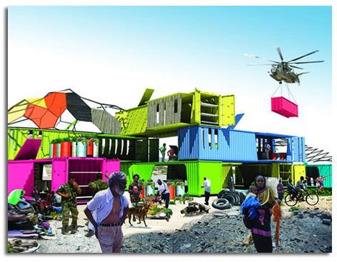 LOS CONTENEDORES DE TRANSPORTE PODRÍAN PROPORCIONAR AYUDA COMO VIVIENDAS EN EL DESASTRES DE HAITÍ
