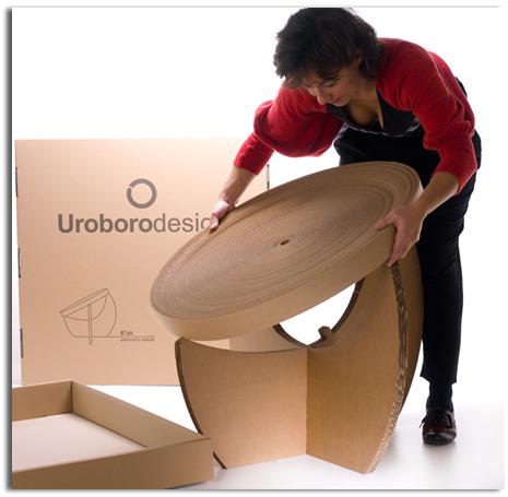 Muebles de cart n reciclado y reciclables mobiliarios de for Muebles reciclados de diseno