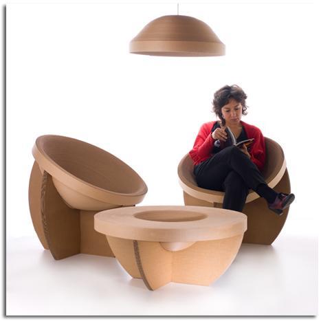 muebles de cartn reciclado y reciclables mobiliarios de diseo ecolgico