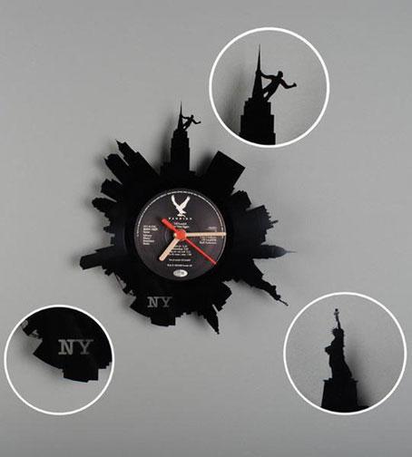 Relojes de pared de re vinilo segunda vida para los disco - Relojes de pared diseno ...