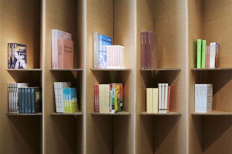 Tienda y estanter as plegables de cart n reciclable for Estantes de carton