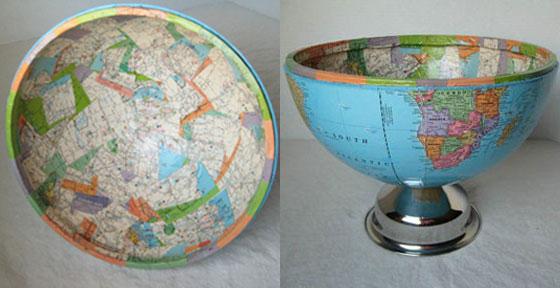 Reutilizar globos terraqueos como objetos decorativos for Objetos de decoracion de diseno