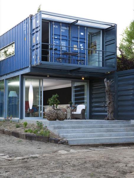 Casa el tiemblo hecha con cuatro contenedores mar timos - Casas de contenedores maritimos ...