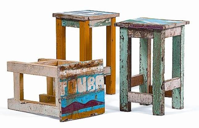 Reciclar viejas barcas de pescas muebles reciclados de - Reciclar muebles de madera ...