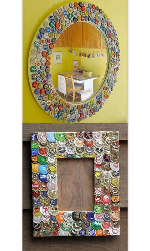 Reciclaje Ideas Para Decorar ~ Arte con lixo e mais IDEAS PARA RECICLAR CHAPAS DE BOTELLAS