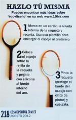 OBJECTBIS EN COSMOPOLITAN DECORACIÓN. -DIY- REUTILIZAR RAQUETAS DE TENIS COMO ESPEJO
