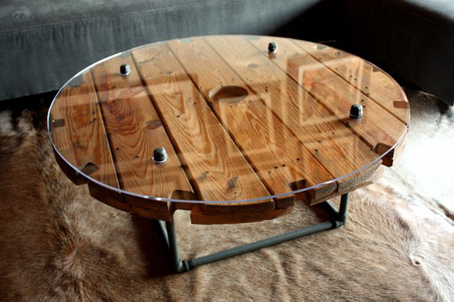 reciclar carretes o bobinas de cable muebles reciclados objectbis dise o ecol gico creativo. Black Bedroom Furniture Sets. Home Design Ideas