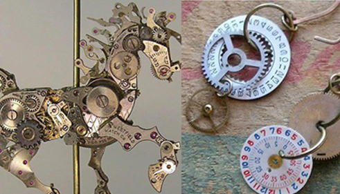 reciclar maquinaria reloj