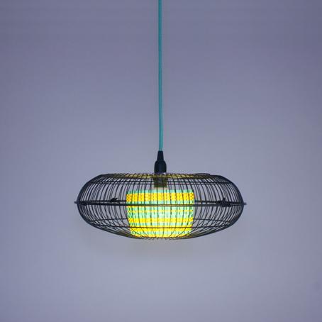 Fantasized objetos de dise o con ventiladores reciclados - Lamparas con ventilador ...