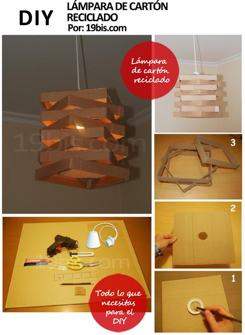 Cómo hacer DIY una con cartón – reciclado lámpara OBJECTBIS pSMzGUVq