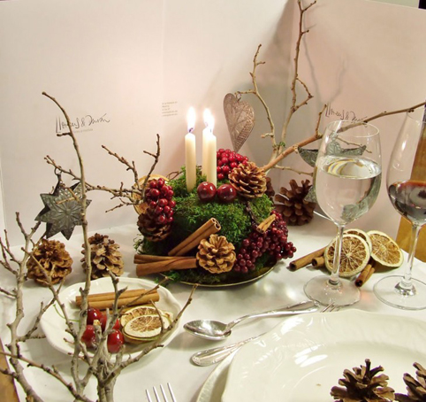 Ideas creativas para decorar mesa de navidad con elementos - Centros de mesa navidad 2014 ...