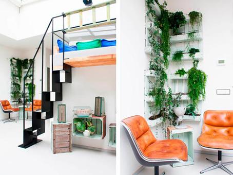 Loft industrial en amsterdam decorado con elementos - Como decorar un loft ...