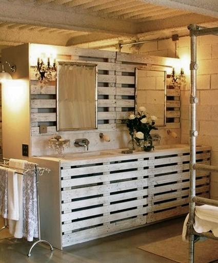 5 ideas con palets para decorar el cuarto de ba o - Palet de madera decoracion ...