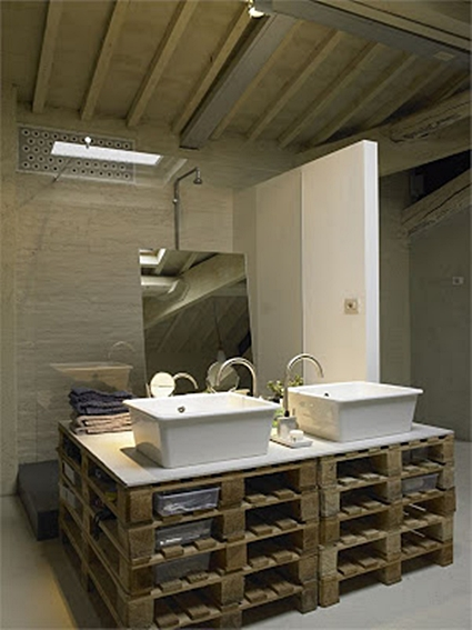 Ideas Simples Para Decorar El Baño:ideas con Palets para decorar el cuarto de baño – OBJECTBIS
