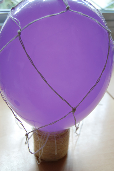globo con cuerda