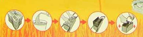lena papel recicla chimenea: