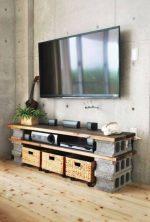 Muebles con bloques de hormigón para el salón