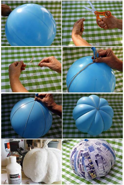 Tutoriales c mo hacer calabazas para halloween objectbis dise o ecol gico creativo - Como hacer calabazas de halloween ...
