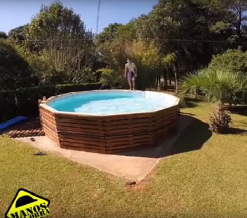 C mo hacer una piscina con palets objectbis dise o for Piscina con palets