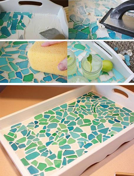 i reciclar vidrios de playas para realizar objetos decorativos y