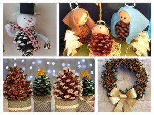 Materiales naturales artesan a objectbis dise o ecol gico creativo - Pinas decoradas para navidad ...