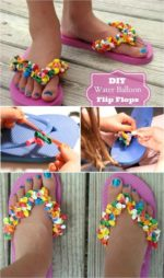 Recicla globos y decora tu chanclas. Ideas veraniegas DIY