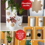 DIY- MACETEROS ECOLÓGICOS DECORATIVOS DE CARTÓN. MATERIAL BIODEGRADABLE