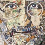 Retrato de Steve Jobs hecho con residuos electrónicos