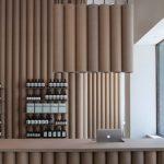 Tienda en los Angeles decorada con tubos de cartón