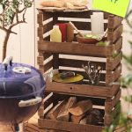 Mueble auxiliar hecho con cajas de madera: para el jardín, terraza, patio