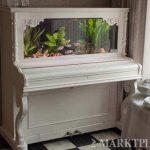 Reciclando viejos pianos como acuarios